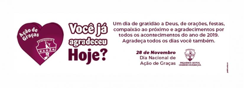 Empresas Radar celebram o Dia Nacional de Ação de Graças